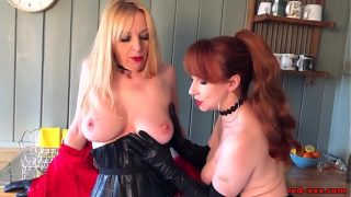 Busty British Mature Red wants pussy for dinner