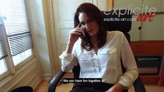 Busty french babe marie horny at office xxx