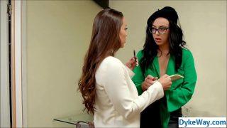 Lesbian interior designer fucks new intern