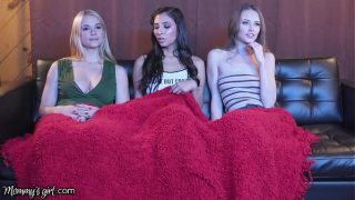 Mommy's Girl Threesome Movie Night With Gianna Dior's GF And Her Stepmom