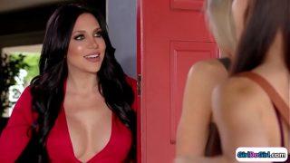 School girls seducing super hot teacher